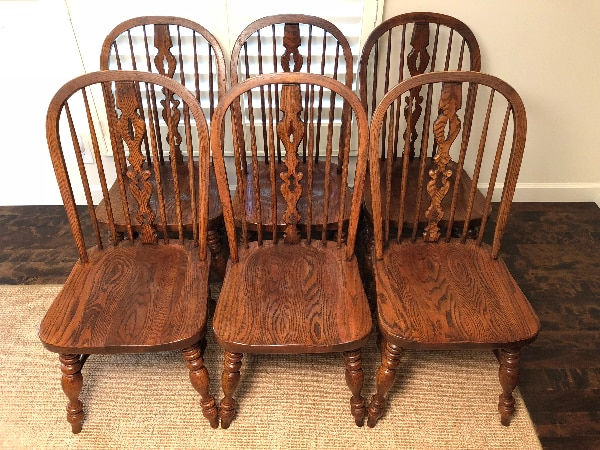 Used Ethan Allen Royal Charter Oak Bowback Windsor Set Of 6 Chairs For In Brookfield Letgo