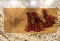 4 set Pier 1 placemats, napkins and rings San Angelo