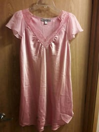 Pink Satin sleepware comfort Mini Dress 2292 mi