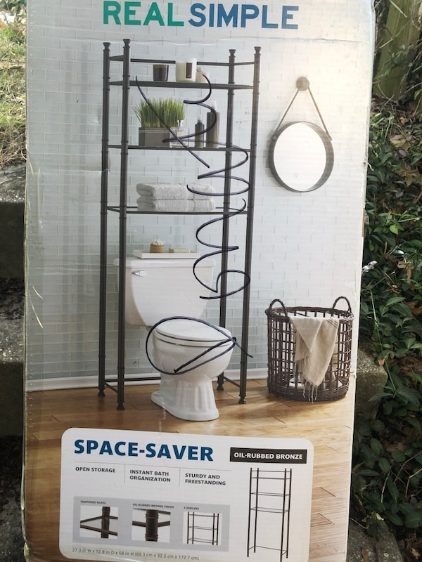 Brand new still in box the box bathroom space saver cost $125-55=$70 thanks