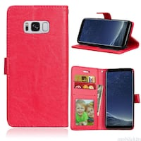 black Samsung Galaxy smartphone with red case Montréal-Est