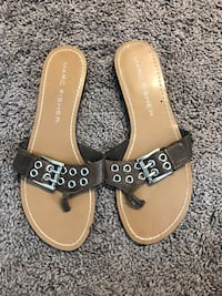 Pair of brown leather sandals Johnstown, 80534