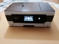 black and white Brother desktop printer