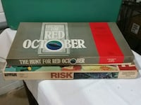 Two board games, RISK and Hunt for Red October Reading, 19606