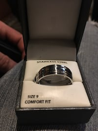 Stainless steel ring size 9