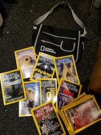 National Geographic bag with magazines  Manassas, 20112