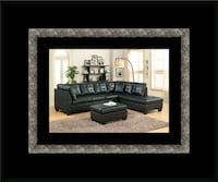 Black sectional with ottoman 49 km
