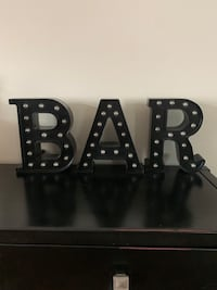 BAR lighted letters