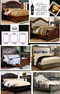 Cal king, King, Queen wood bed frame only new  Fresno, 93726