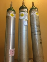 Lifegas oxygen, compressed tanks (3) 680 liters 1373 mi