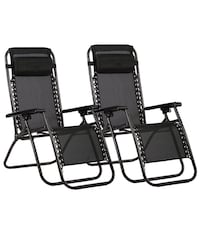 two black metal folding chairs Alexandria, 22301