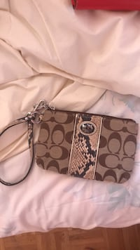 Brown and black coach wristlet Whitby, L1N