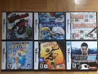 Six assorted nintendo ds game cases Toronto, M9W