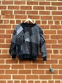 black and gray geometric sweater Silver Spring, 20910