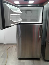 black and gray compact refrigerator null