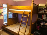 Brown wooden bunk bed frame with twin mattress Ashburn, 20147