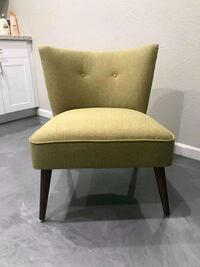 Armless green chair