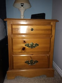 Side Table- solid pine, good condition aside from a few scratches. Can be sold as a set with armoire, bed and dresser Waterloo, N2K 4L5