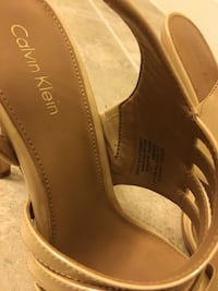 pair of nude open-toe sandals (size 7.5) 45 km