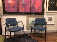 Pair of Steelcase Chrome Frame Upholstered occasional chairs. New Orleans, 70130