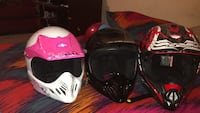 Pink, black, and red  motorcycle helmet Pearl