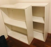 3 white bookshelves North Vancouver, V7J 2B4
