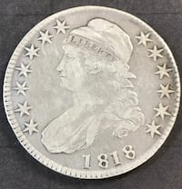 1818 Capped Bust Half Dollar VF/XF Redding
