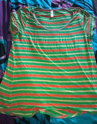 green and white striped v-neck shirt Nampa, 83687