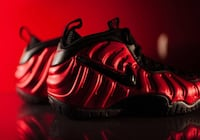 Red-and-black air nike foamposite Vancouver, V5R 4G8