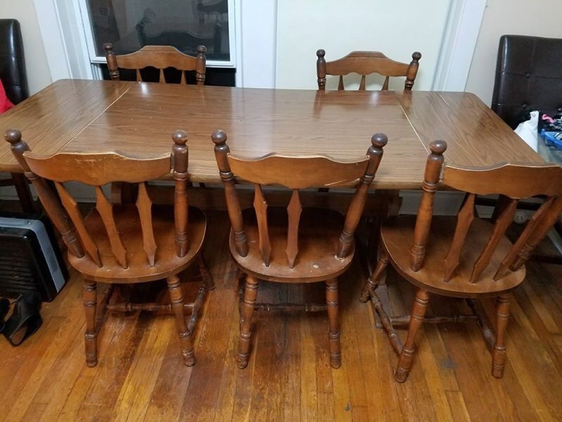 letgo brown wooden dining table set in saint louis mo