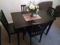 rectangular brown wooden table with four chairs dining set Alexandria, 22304
