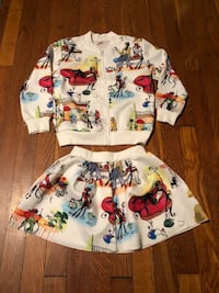 Kids printed 2 piece size 11 46 km