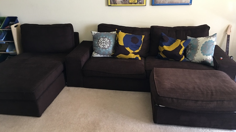 Letgo grey fabric sofa set with throw pil in frisco tx for Sofa bed 75034