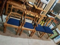 Set of four solid wood chairs  Brampton, L6X