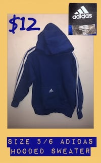 EUC Size 5/6 Adidas Hooded Sweater Vancouver, V5N 1J7