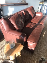 Brown leather couch for sale. Pick up only. Atlanta, 30309