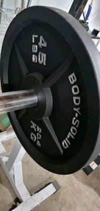 Olympic bar weights and bench Spokane, 99207