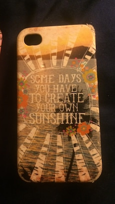 brown and gray Some Days You Have To Create Your Own Sunshine print iPhone case
