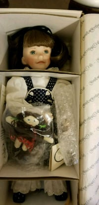 white and black dressed doll in box Weehawken, 07086