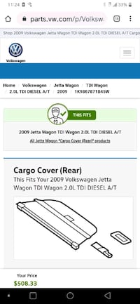 Jetta Wagon Retractable Cargo Compartment Cover