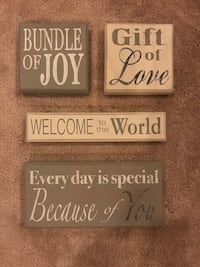 Decorative Wood Wall Hangings for New Baby Hanover, 21076