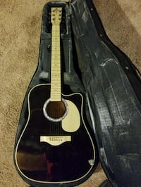 black acoustic electric guitar with case Columbus, 43235
