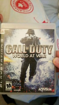 Call of Duty World at War PS3 game case Coquitlam