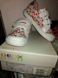 sneakers GEOX bianche e rosse con scatola Afragola, 80021