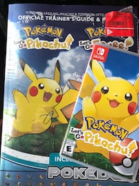 Let's Go Pikachu and guide book Newcastle, L1B 1K3