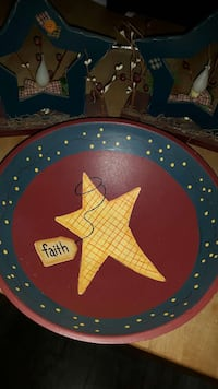 round red, blue, and yellow star printed decor Hatley, J0B 4B0