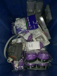 Box of Spray Painting respirator gear Cranston, 02920