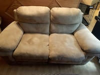 Suede brown couch! SUPER COMFY