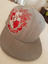 gray and red Chicago Bulls fitted cap TORONTO