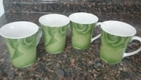 Green rose cups
